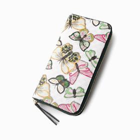 麦包包-戈尔本 新款时尚彩色印花多隔层功能女士牛皮手拿包