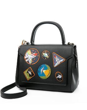 麦包包-戈尔本 新款太空漫步图章包女手提单肩斜挎包