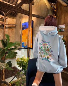 新款‼️Vetem*nts 19fw 独家代购版 小马宝莉卡通卫衣 最新马卡龙蓝超级美!!