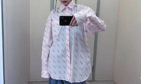新款‼️Blc 19fw 独家代购版 爆款!angel baby 江疏影同款 满logo粉色衬衫 巴黎家的款就是随便一件都好看 不挑人的时髦