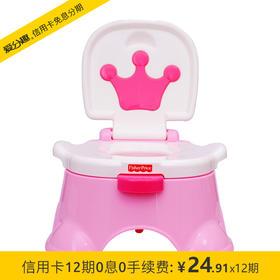 费雪 音乐马桶适合男女宝宝儿童便携坐便器-粉色 BGP35 18M+