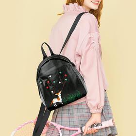 麦包包-戈尔本 刺绣韩版时尚【梅花鹿】手提单肩双肩背包