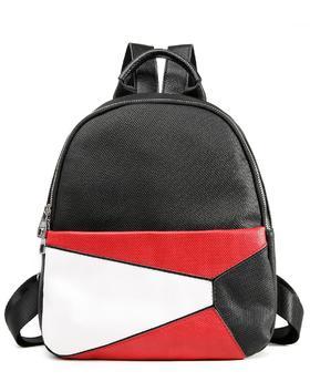 麦包包-戈尔本 新款时尚百搭拼接撞色女士手提双肩包
