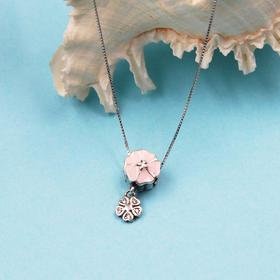 925银心型/花型锁骨项链