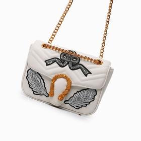 麦包包-戈尔本 新款大牌百搭绣花钉钻链条包女士单肩斜挎包