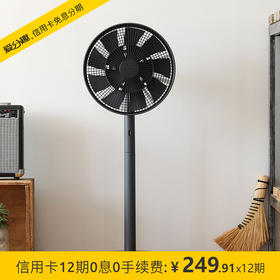 BALMUDA 巴慕达 GreenFan果岭电风扇家用 静音自然风 台地两用 日本原装进口 送风远 白/黑 EGF-1680-WK