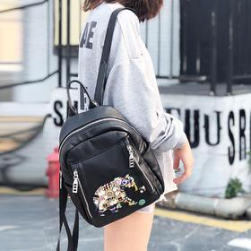 麦包包-戈尔本【ins超火大象包】新款时尚刺绣双肩包亮片女生手提背包潮