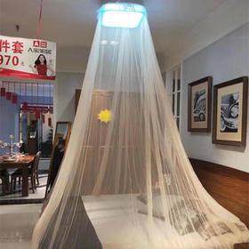 夏逸电动遥控蚊帐吸顶灯智能家居现代简约卧室灯LED灯