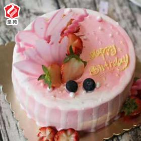 【初恋的粉色系】粉色少女心~鲜果夹心天然淡奶蛋糕