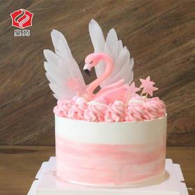 【INS爆款】火烈鸟~造型类天然淡奶蛋糕