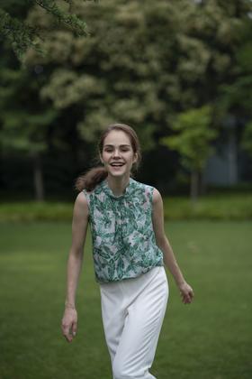 Palmira Shirt 真丝印花衬衫