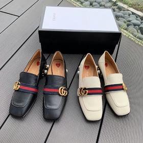 Gucci 正品级 最经典的珍珠踩跟款 进口渠道供应特供! 全鞋采用进口牛皮 内里也用了最顶级的小牛皮➕后跟珍珠采用特殊处理 不易掉落。码数35-40