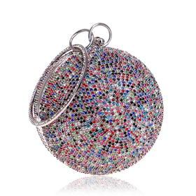 YMMY8105新款欧美圆球形镶钻晚宴包TZF