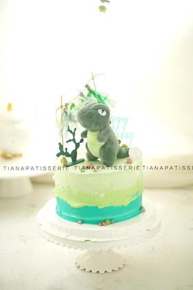 恐龙 奶油蛋糕