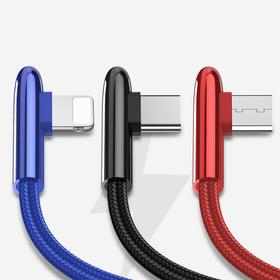 一拖三编织充电线 苹果充电线 type-c 安卓三合一充电线