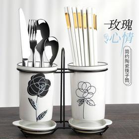 日式尖头家用网红餐具合金筷子10双装家庭防滑防霉耐高温