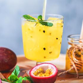 【酷热夏季来一杯!】蜂蜜百香果茶500g/罐 排毒养颜 生津开胃 润肠通便 酸甜可口