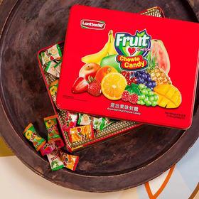 伦敦WF混合果味软糖糖果(红色铁盒装) 268g/盒
