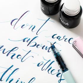 复古色非碳素sheen系列钢笔彩色墨水彩墨渐变蘸水笔彩墨