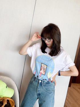 LOEWE罗意威油画T恤 采用进口原版面料 定制定染 日本进口胶浆手绘工艺印花 今年夏天不能错过的款式  出入专柜无压力