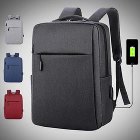 商务背包男士双肩包 大容量旅行包 休闲大中学生书包 简约时尚电脑箱包