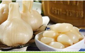 预售扶贫产品农家腌渍糖蒜每斤15元