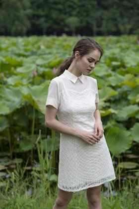 Valentina Dress 白色真丝裙