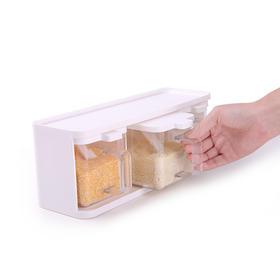 FaSoLa 调料盒 调味罐套装调味瓶套装家用厨房收纳盐罐组合三件套