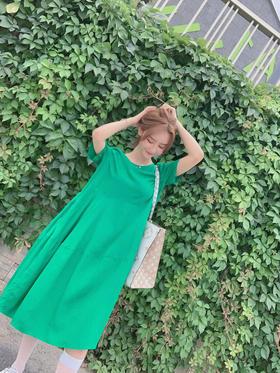 原单天丝人丝连衣裙 纯色宽松款 两色