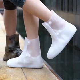 FaSoLa 雨靴透明 软胶鞋套水鞋男女士儿童雨鞋防滑防水成人雨靴子