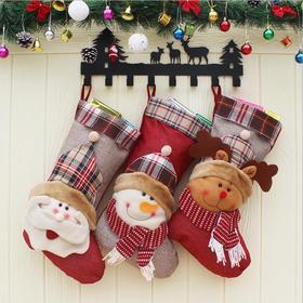 【装饰品】2018新款圣诞袜子圣诞树装饰用品圣诞袜挂饰圣诞节老人雪人礼物袋