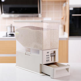 FaSoLa 米桶 家用带计量杂粮存储收纳箱防潮防虫大容量米缸储米器