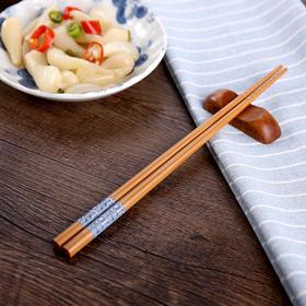 FaSoLa 楠竹筷子 家用日式尖头防滑筷个性和风一双装竹子筷