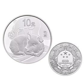 2019猪年本色银币、彩色银币、梅花形银币、扇形银币、本色金银币、彩色金银币、公斤银币