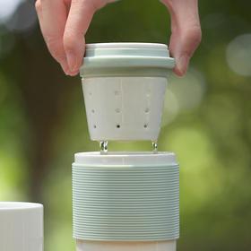 FaSoLa 茶具套装 日式便携旅行茶杯简约户外单双人泡茶随身飘逸杯