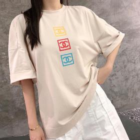 chane* 中古系列logo T®️ 🤩又是一款超稀有产物 🤩 市场中古哪家强?当然找MC‼️定制贴身舒适度极佳👠胸前黄红蓝三色复古风logo极具特点