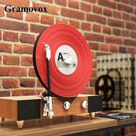 格莱美 竖立式蓝牙黑胶播放机 唱片机音箱留声机