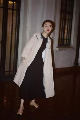 白莲花小可爱丝绒旗袍棉服过年专用