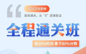 """2020年卫生职称资格考试【全程通关班】从""""0""""逆袭取证"""