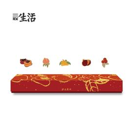 北京画院齐白石文创 · 《白石天趣之柿柿多荔》果蔬胸章礼盒