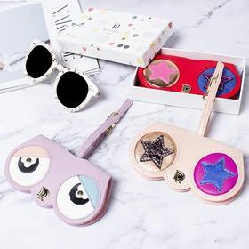 意大利RoyalDame眼镜包 墨镜包 便携时尚可爱萌趣 牛皮面料