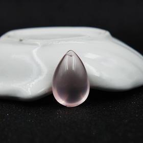 天然粉水晶水滴吊坠