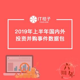 2019年上半年国内外投资并购事件数据包