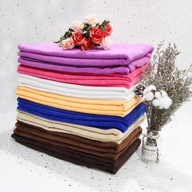 【高弹浴巾】白色橘黄色深咖色浅咖色牛皮黄玫红色深紫浅紫,大毛巾