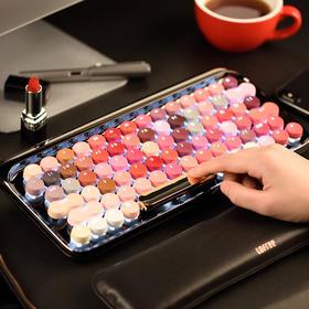 【为思礼】【绽放 一把性感的键盘】LOFIEE洛斐圆点蓝牙键盘口红键盘