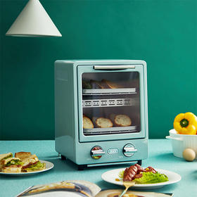 复古双层烤箱 家用烘焙 多功能迷你小型电烤箱 9L