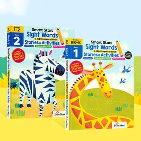 【3-8岁】美国 Evan-Moor 教辅出版社英文原版练习册《Sight Words Stories & Activities》!英文原版,200个单词,30个音频故事,90个趣味活动
