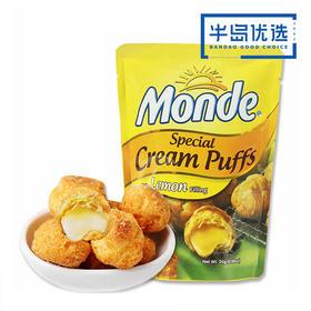 菲律宾进口【3袋:柠檬清香味】道吉草柠檬味奶油夹心泡芙25g*3