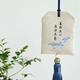 丝绣布艺 清雅香囊挂饰(L款)