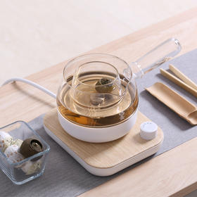【红点设计大奖 煮茶神器】鸣盏二合一煮茶器 养生壶玻璃电煮茶器 配壶盖